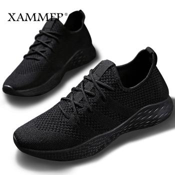 b0c3a676 Mężczyźni sneakers mężczyźni casual buty marki Mężczyźni Buty męskie Mesh  mieszkania Plus duży rozmiar Loafers oddychający