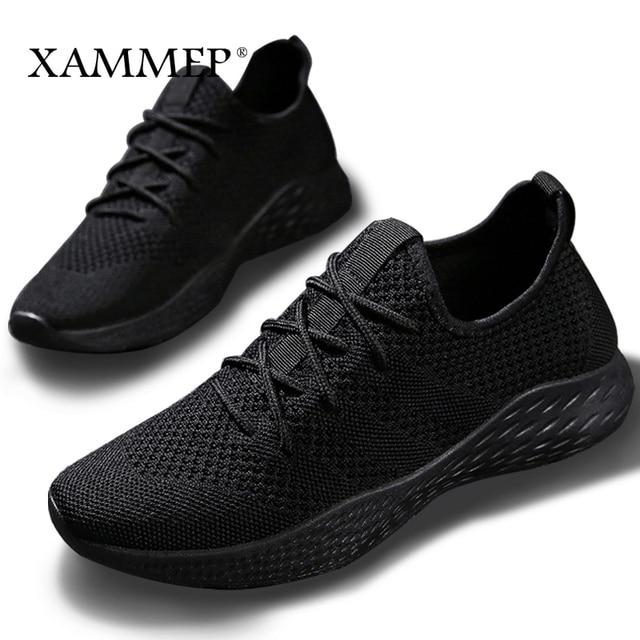 Nam Sneakers Nam Thương Hiệu Giày Nam Nam Lưới Đế Plus Size Lớn Cho Nữ Thoáng Khí Trượt Vào Mùa Xuân, Mùa Thu xammep