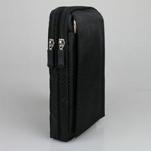 """الهاتف المحمول مقاوم للماء النايلون الحقيبة حزام الخصر حقيبة مزدوجة البريدي 3 جيب الحافظة لهواوي الشرف نوت 8 6.6 بوصة شاومي ماكس 6.44"""""""