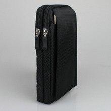 """Wasserdichte Handy Nylon Beutel Gürtel Taille Tasche Doppel Zip 3 Tasche Holster für huawei honor hinweis 8 6,6 zoll xiaomi max 6.44"""""""