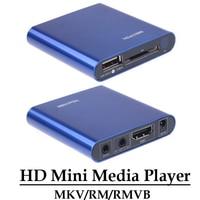 Multimedia HD 1080 p mini reproductor multimedia HDMI cvbs YPbPr salida MKV/RM/rmvb H.264 reproductor USB disco tarjeta SD/SDHC