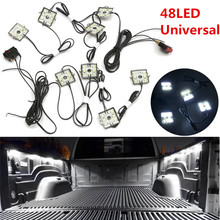 Universal 8pc 48LED Truck Bed Blue Neon LED Lighting Light Kit Ultra White Waterproof High Power