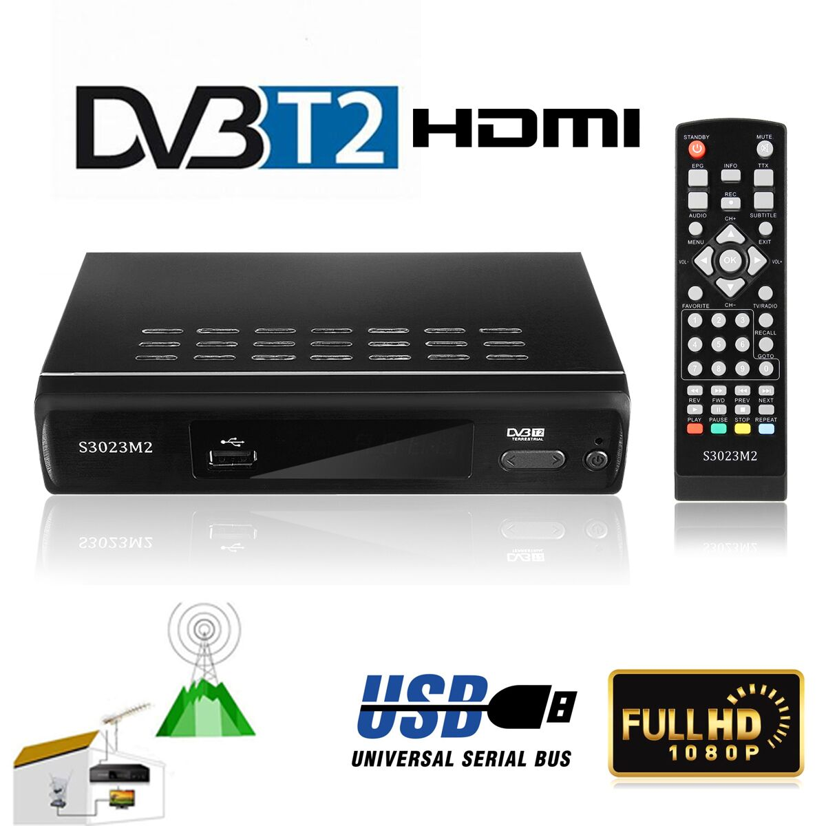H.265 DVB-T2 MPEG-2 lnb Satellite Receiver Full 1080P TV Receiver TV box Digital HD Satellite Video Broadcasting Box HDTV наушники jbl t205 chrome