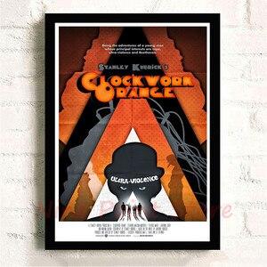 Стэнли Кубрик Заводной бумажный постер с оранжевым покрытием настенные наклейки декоративная роспись бескаркасные