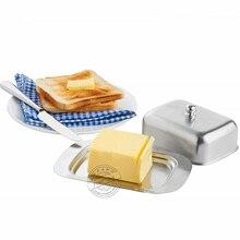Масленка с легко держать крышкой нержавеющая сталь еда контейнер элегантный масло блюдо торт десерт хлеб поднос шведский стол