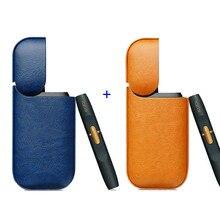 JINXINGCHENG 2PCS Lot Leder Tasche Fall für iqos 2,4 Plus Tasche für iqos 2 Halter Abdeckung 8 Farben