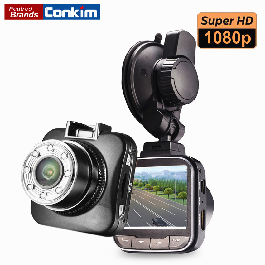 Conkim DVR Car Dash Cam Camera Novatek 96650 1080P Full HD Black Box Video Registrar IR Night Vision 170 Degree Car Camera G55 conkim mini car suction cup holder for car cam dvr windshield stents car gps navigation accessories