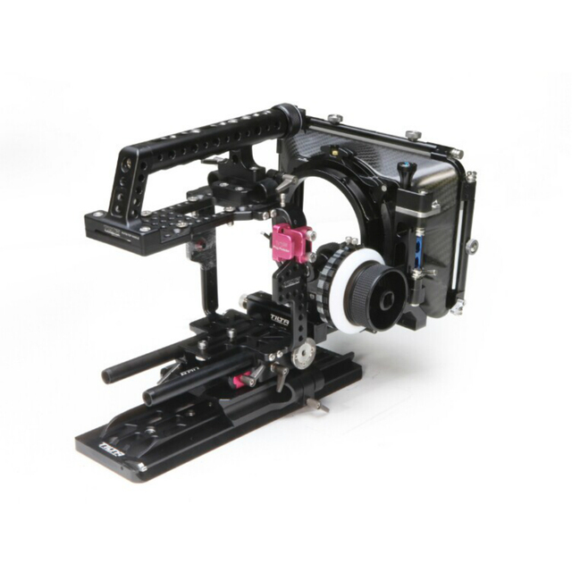 sony f5. tilta pro rig support cage for sony f5/f55 camera ff-t03 damped follow f5