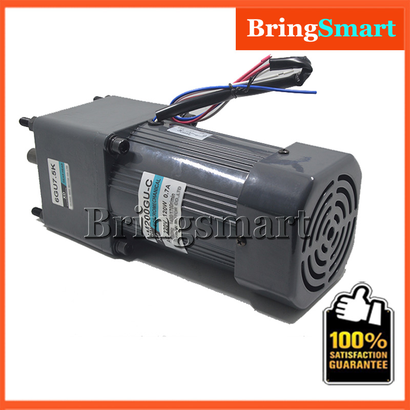 AC220V 200W 6M200GU-C Single Phase Gear Motor Adjustable Speed with Governor