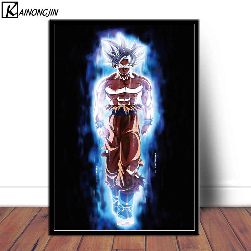 Art Poster Dragon Ball Z Super Goku Ultra Instinct Mastered Posters and Prints Wall Picture Canvas Painting Room Home Decoration