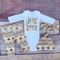 Baby Boys Clothes Set 2017 New Spring Newborn Baby Girl Clothing Long Sleeve Bodysuits +Pant + Hat + Headhand Thanksgiving Gift