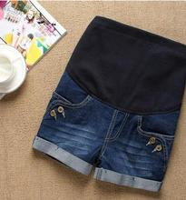 2016 spring and summer maternity clothes  pregnant belly support thin jeans shorts SH-YZK076JYF