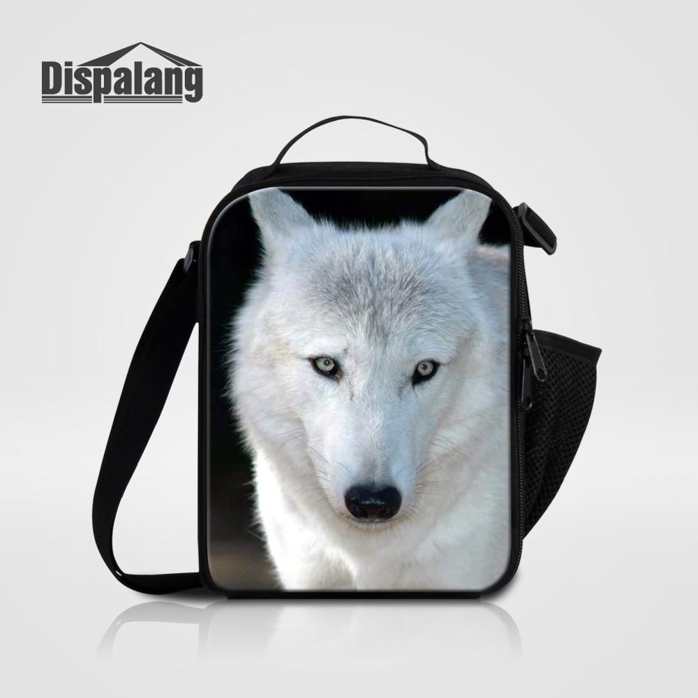 Мужские Термо-холщовые сумки для ланча, лисы, волка, динозавра, змеи, для мальчиков, сумка-холодильник для еды, пикника, Детская маленькая сумка-Ланч-бокс на молнии для школы - Цвет: Lunch Bag12