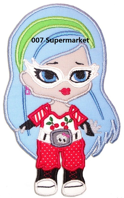 ghoulia yelps monster high dolls logo pink bow skull tv movie film cutie iron on patch - Ghoulia Yelps