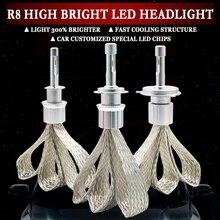 Светодиодный H4 H7 H1 H11 HB4 H3 H8 H9 H11 9005 9006 10000lm зэс чипов автомобилей светодиодный головной светильник 6000k белый Автомобильная Противо Туманная светильник фары лампы