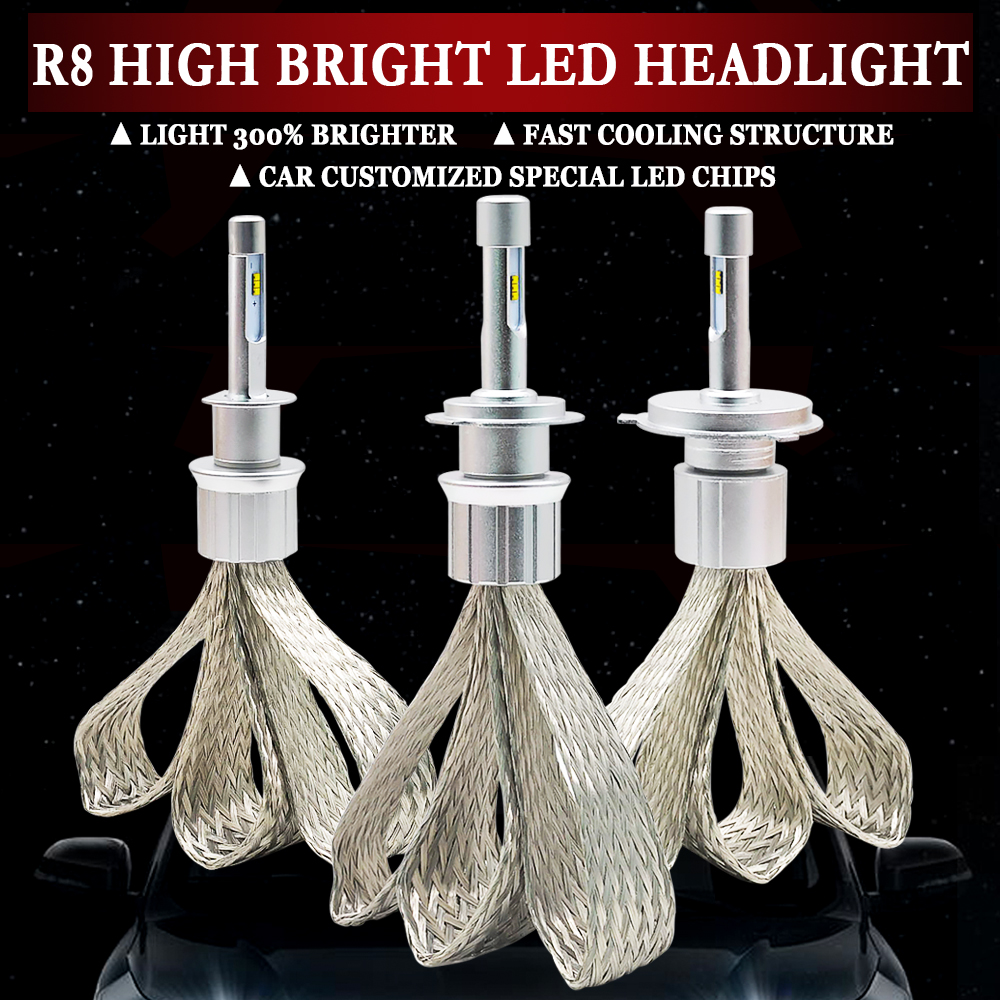 LED H4 H7 H1 H11 HB4 H3 H8 H9 H11 9005 9006 10000lm ZES Chips Car Led Headlight 6000k white Auto Fog light Headlamp Bulb