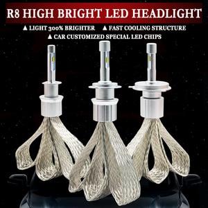 Image 1 - LED H4 H7 H1 H11 HB4 H3 H8 H9 H11 9005 9006 10000lm ZES שבבי רכב Led פנס 6000k לבן אוטומטי ערפל אור פנס הנורה
