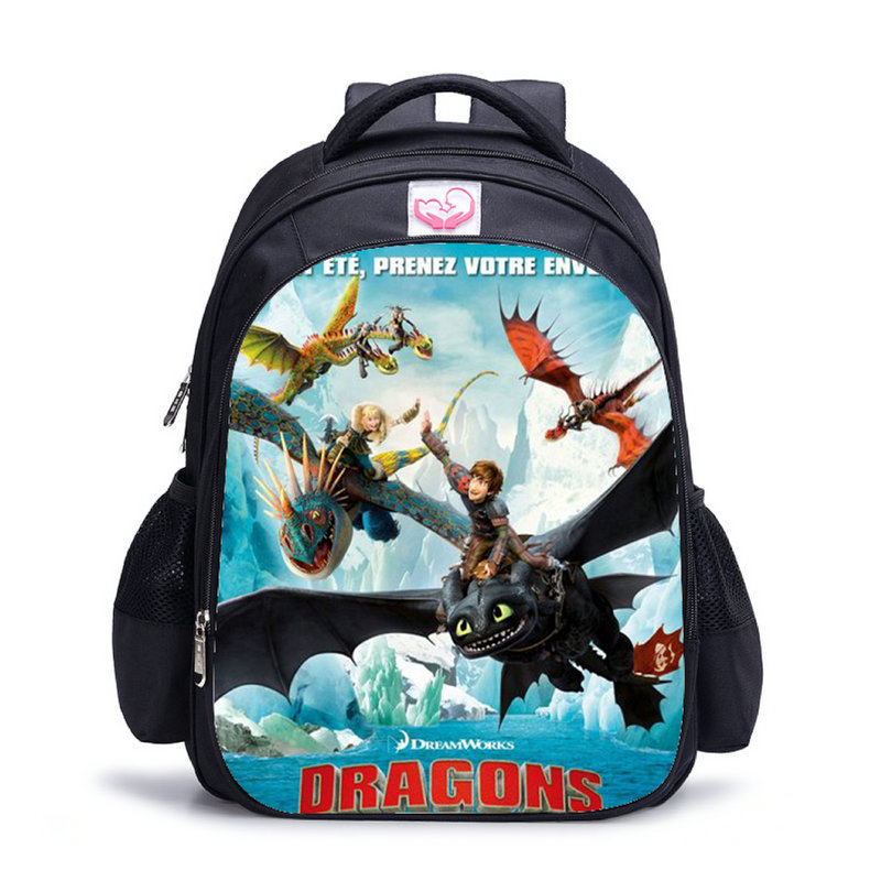 Children School Bag Cartoon How To Train Your Dragon School Backpacks For Teenager Boys Large Mochila Fashion Student SchoolbagChildren School Bag Cartoon How To Train Your Dragon School Backpacks For Teenager Boys Large Mochila Fashion Student Schoolbag