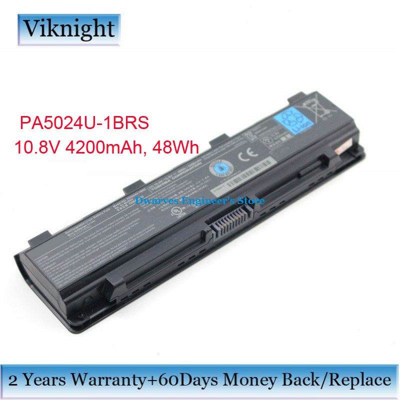Original PA5024U-1BRS Laptop Battery For Toshiba Satellite C800 C850 C850D C855D C855 L800 L805D M845D Battery 4200mAh 48Wh, цена и фото