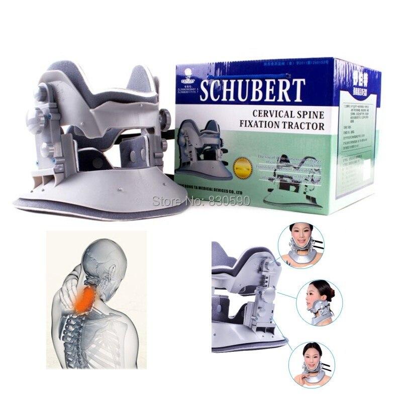 Quatrième Génération véritable Schubert appareil de traction Cervicale ménage appareil de traction cervicale cou masseur de Tête livraison gratuite