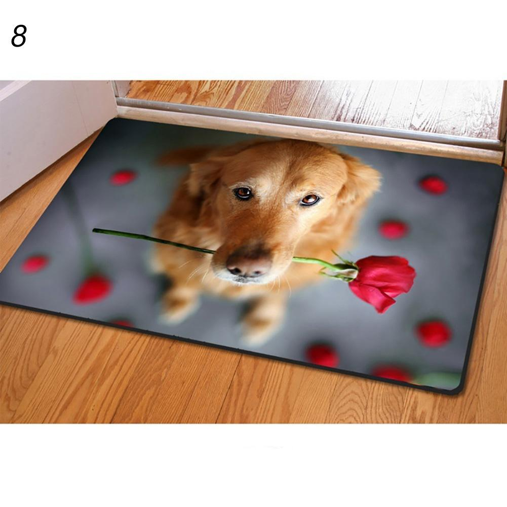 1pc Lovely 3D Dog Animal Bathroom Anti-slip Floor Mat Kitchen Living Room Rugs Animal Front Door Mat  40cm X 60cm Drop Shipping