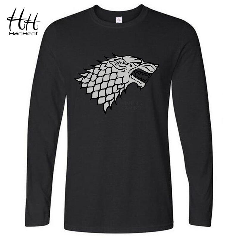 Hanhent Winter Is Coming Direwolf T Shirt House Stark
