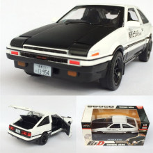 1:28 Toyota Trueno AE86 Alloy Diecast Car Model Pull Back Toy With Light Sound For Kid Toys Gifts Free Shipping Original Box(China)