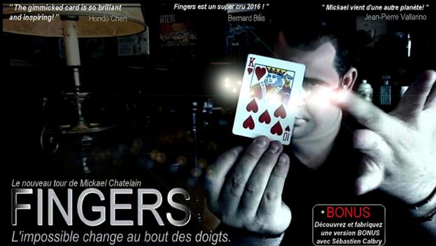 New Fingers (Gimmick+DVD) by Mickael Chatelin,Magic Tricks,Card Magic,Close up,illusion,Mentalism,Fun Trick,Magia Toys 2017 new pro switch box magic tricks gimmick prop close up illusion appearing comedy illusion money magic card magic trick 81322