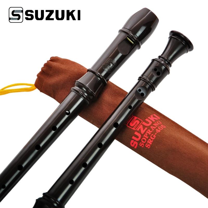 SUZUKI SRG-405 grabadora de clarinete Descant Recorder Soprano Recorder instrumento niños juguetes de estilo alemán 8 agujeros