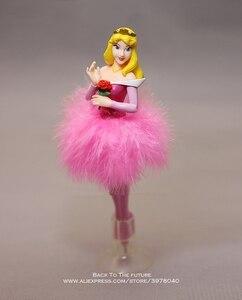 Image 5 - Disney Princess Cinderella Snow White ball pen 6pcs/set 19cm Action Figure Decoration PVC Collection Figurine Toys model gift