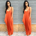 2017 Fashion Women Blackless Chiffon Evening Party Beach Long Maxi Dress Sundress