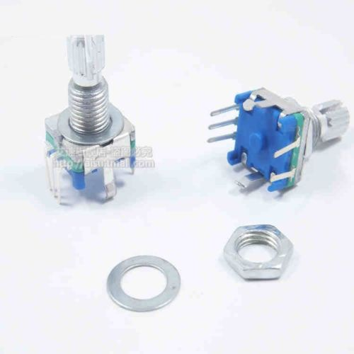 2 PCS Rotary Encoder With Switch EC11 Audio Digital Potentiometer 15MM Handle S