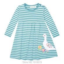 Nouveau 2017 Marque Qualité 100% Coton Bébé Filles Robes Enfant Enfants Vêtements Enfants Vêtements À Manches Longues Casual Robe Bébé Filles