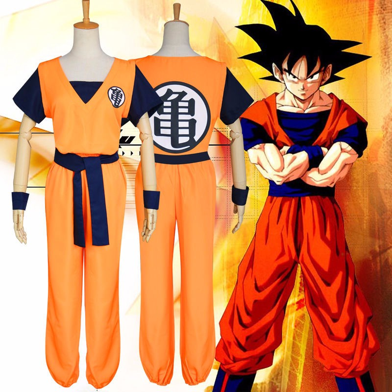 Anime Cosplay Costume Unisex DRAGON BALL Z Son Goku Adult Super Saiyan Uniform Set High quality Fine Workmanship image