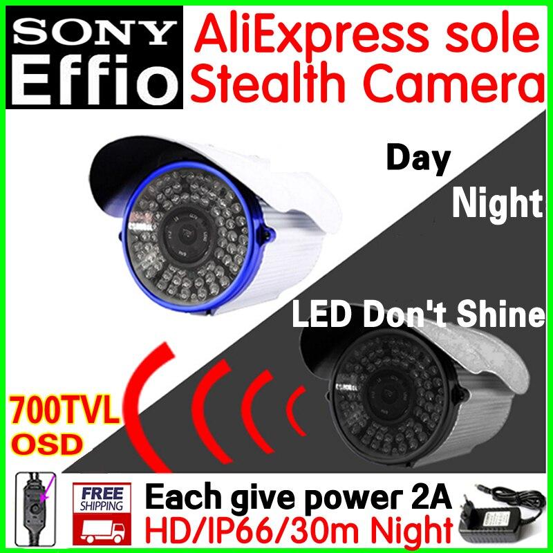 Patent stealth vidicon+Give 2A Power+bracket!1/3Sony Sensor CCD Effio Effio 700TVL cctv hd camera 72led led Don't shine vidicon sat integral s 1221 hd stealth купить есть в наличии