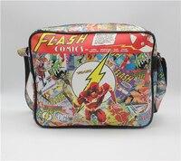 Cinematográfico Marvel El Flash hombre Mochila paquete de hombro bolsa de Mensajero Bolso de la Computadora QY002