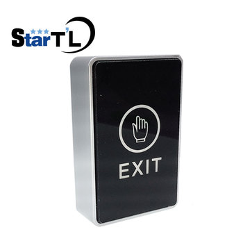 NO/NC/COM Backlight LED Touch Exit Button Wall Mount Exit Button Push Door Release Exit Button Switch For Access Control System