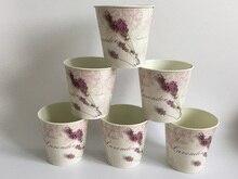 6 Pçs/lote D10.5xH10CM Mini Vaso para Decoração De Casamento centro de mesa de Ferro vasos de flores de Lavanda