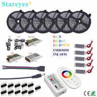 LED Strip 5m 10m 15m 20m 25m 30m SMD 5050 RGB RGBW 300LED 12V IP20 IP65 Waterproof Flexible strip tape LED Rope Ribbons Kit