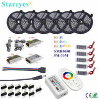 LED Strip 5m 10m 15m 20m 25m 30m SMD 5050 RGB RGBW 300LED 12V IP20 IP65 Waterproof Flexible strip tape LED Rope Ribbons Kit