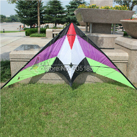 Free Shiiping Outdoor Fun Sports Dual Line Stunt Kite Carbon Rod /Nylon Ray Thrill Cost 240cm Factory Outlet
