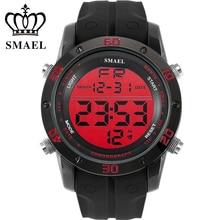 Smael numérique montres hommes sport montre-bracelet étanche ip alliage casual montres led montre homme relogios masculino cadeaux ws1145