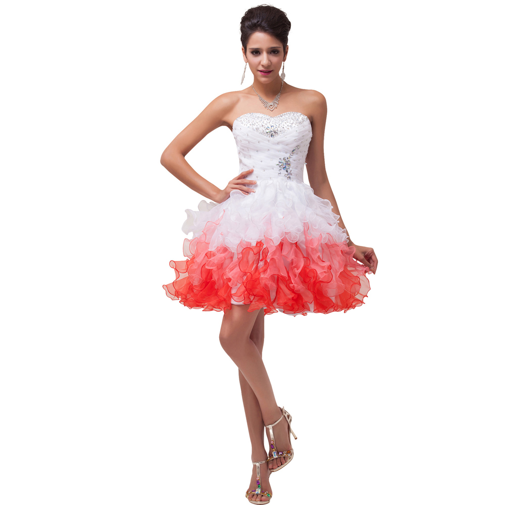 Fast shipping white and red short bridesmaid dress under 50 fast shipping white and red short bridesmaid dress under 50 wedding guest dress party ball gown 4977 in bridesmaid dresses from weddings events on ombrellifo Images