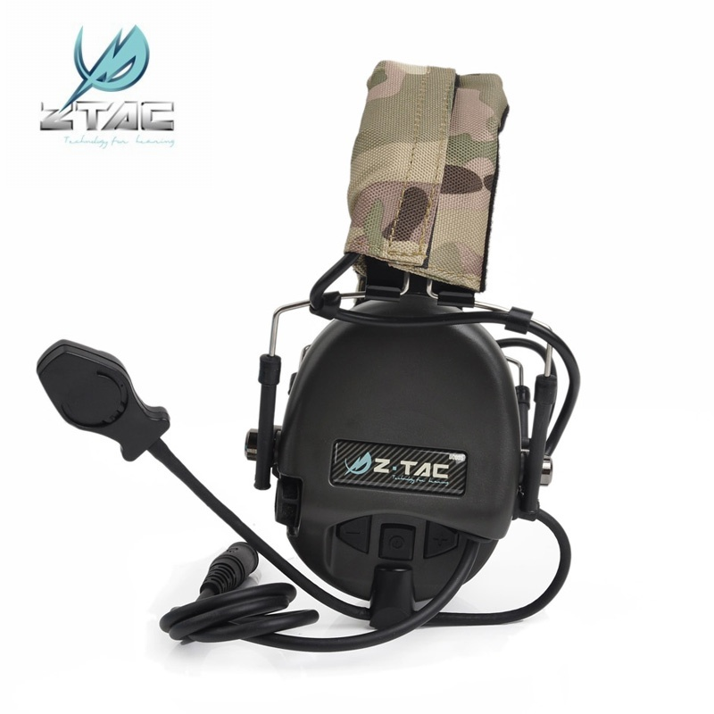 Z Tactical TEA Hi Threat Tier 1 Softair Headset Military Aviation Noise Canceling Headsets Ztac Airsoft
