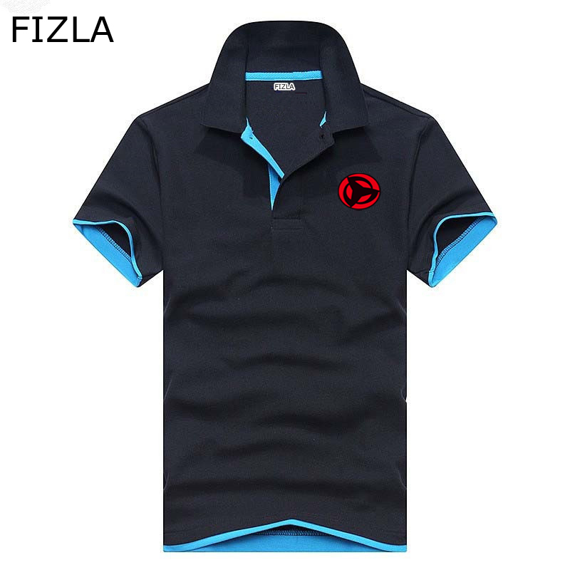 Naruto high quality summer lapel business   polo   shirt men women classic Brand clothing Hot sale Short sleeve men   Polo   homme