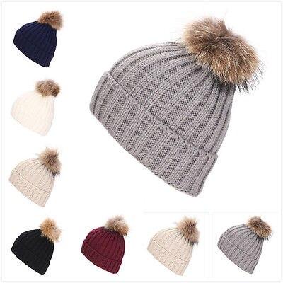 de4e0ded95f Autumn Winter Unisexe Men Women knitted bobble hat Large Cap Winter Warm  Ski Hat -in Skullies   Beanies from Apparel Accessories on Aliexpress.com
