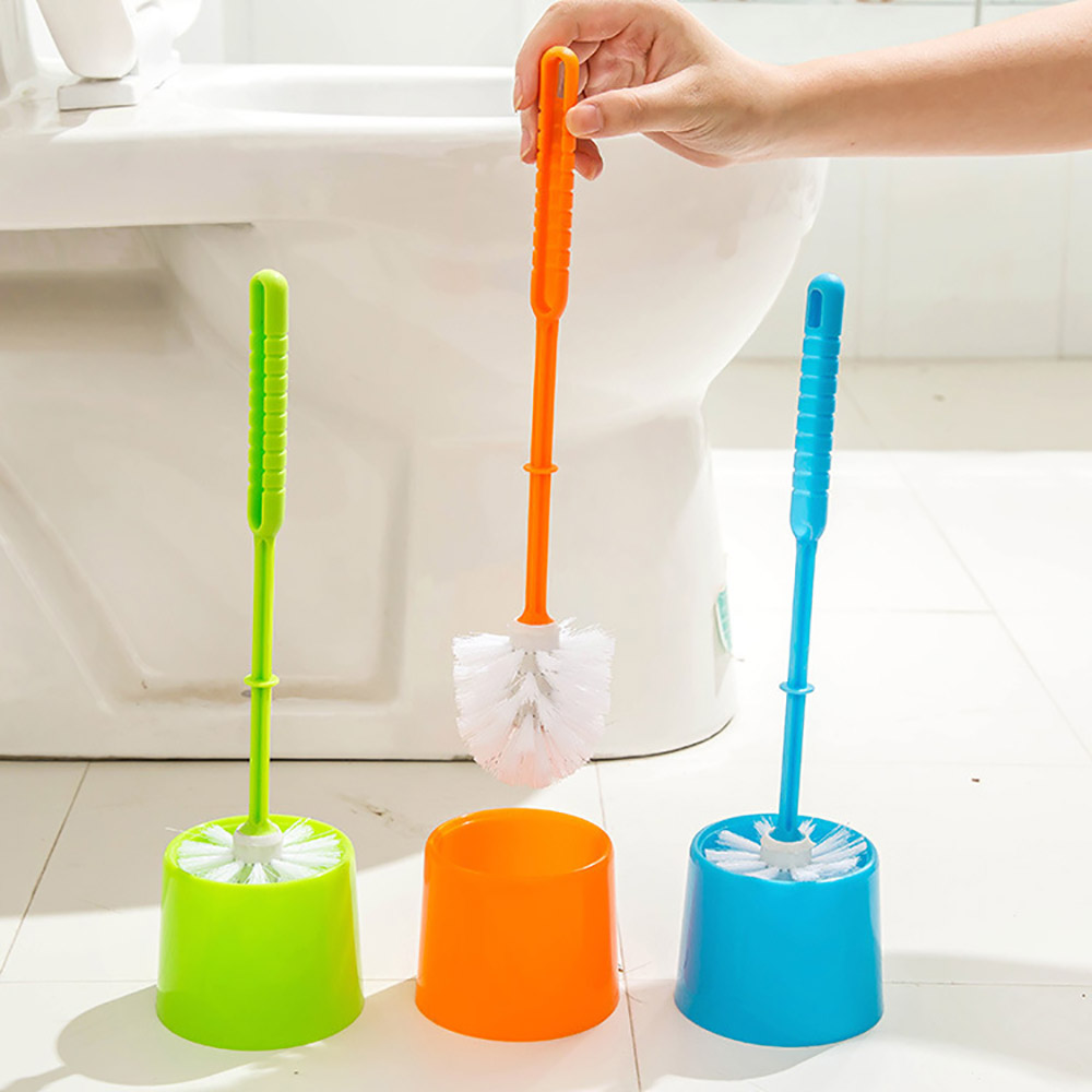 Durable Plastic Long handle Toilet Brush Holder Set Toilet Cleaner Cleaning  Brush Bathroom Accessories Cleaning. Compare Prices on Toilet Cleaner Brush  Online Shopping Buy Low
