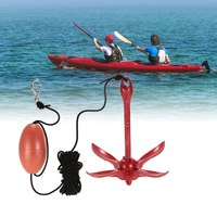 1.5kg / 3.3lbs Folding Anchor Rigging System Kit Set with Float Carrying Bag Rope Fishing Buoy Kit Portable for Kayak Raft Canoe