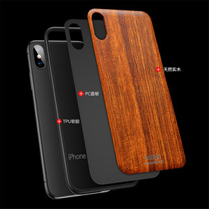 Image 4 - Funda trasera delgada de madera para iPhone XS Max, protector de parachoques de TPU para iPhone XS XR X iPhone XS Max