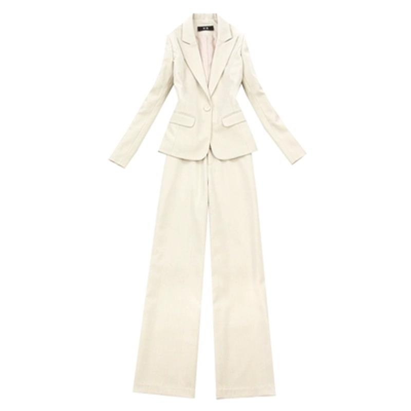 Fashion suit suit female Large size women s spring fall New beige herringbone Blazers high waist
